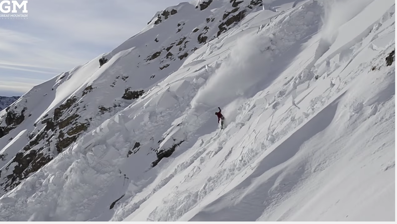 snowboarder in Avalanche