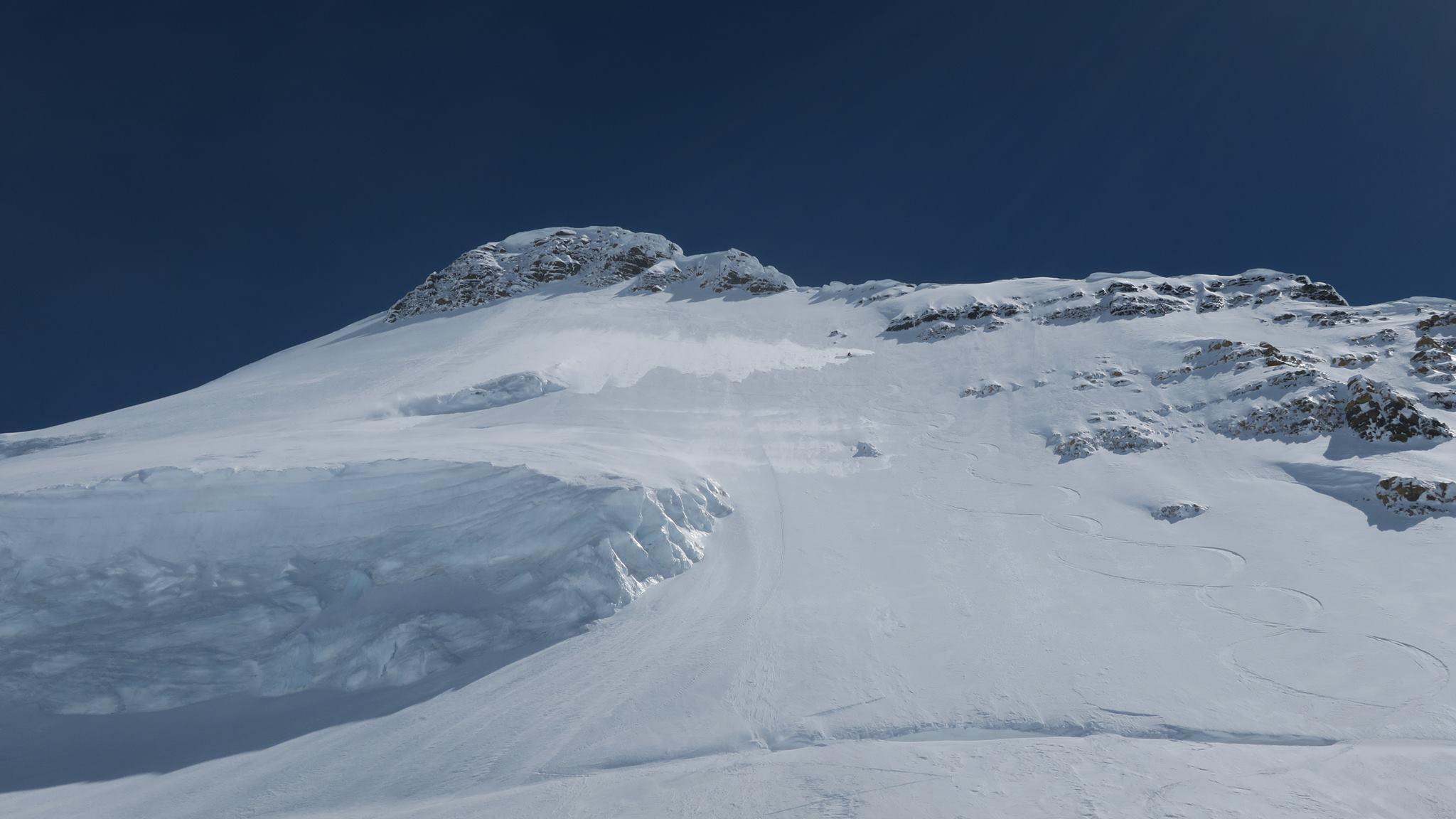 Matt Cote, skiing Whitehorn Mountain.
