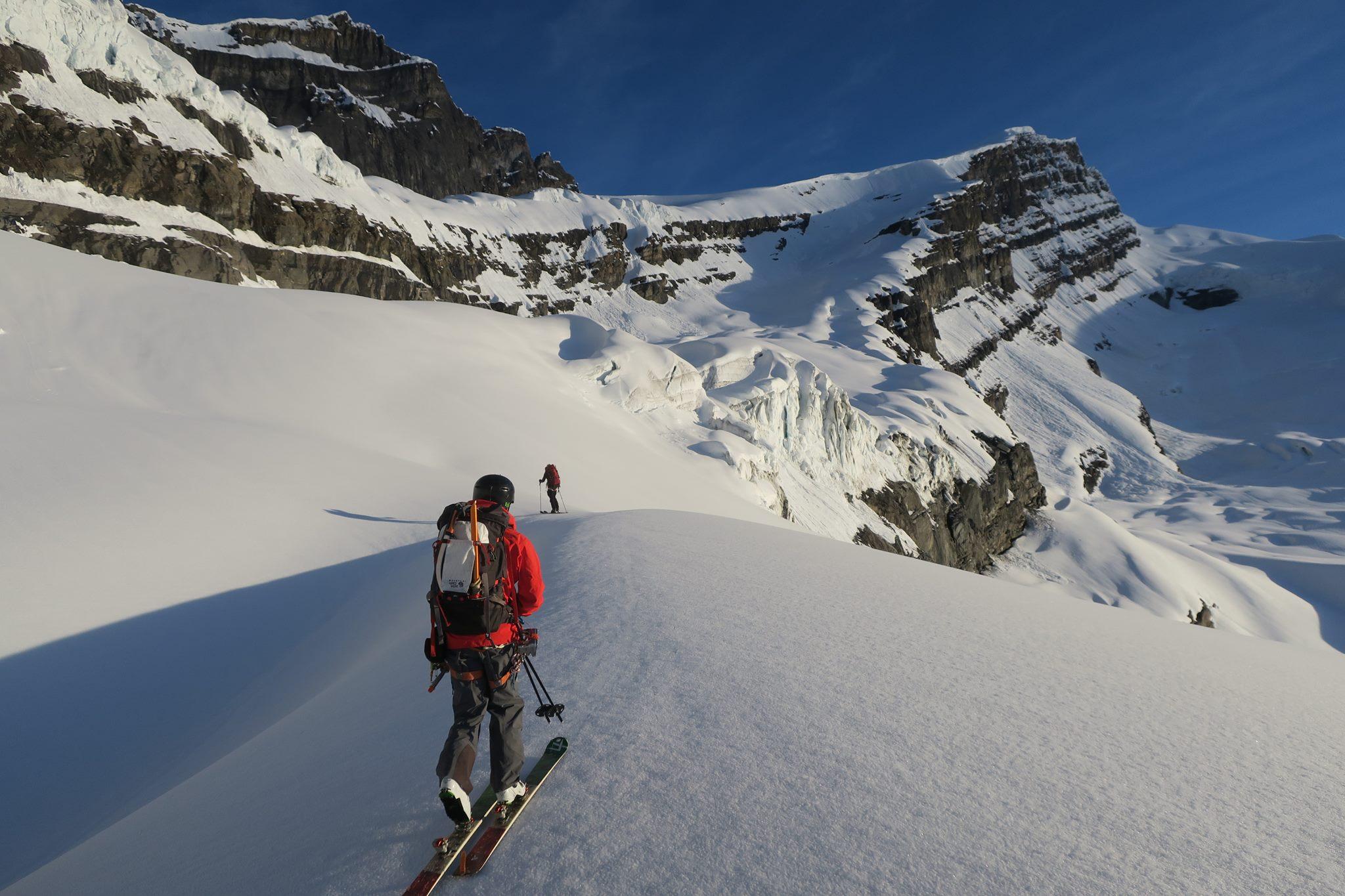 Approaching Whitehorn Mountain. McNab photo