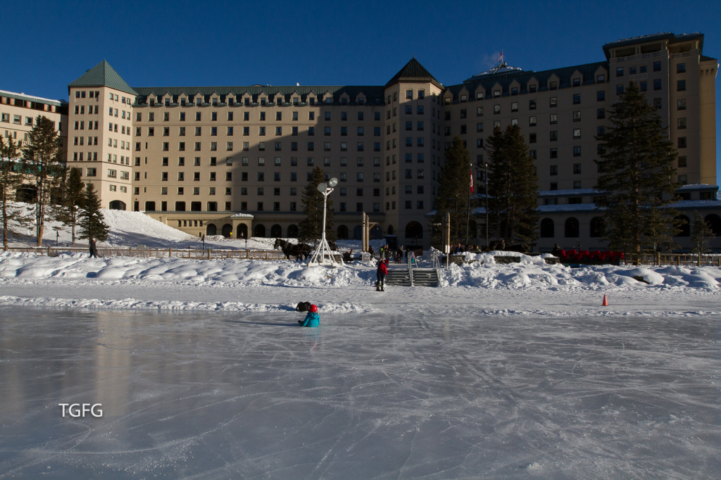 Chateau Lake Louise from the skating rink.