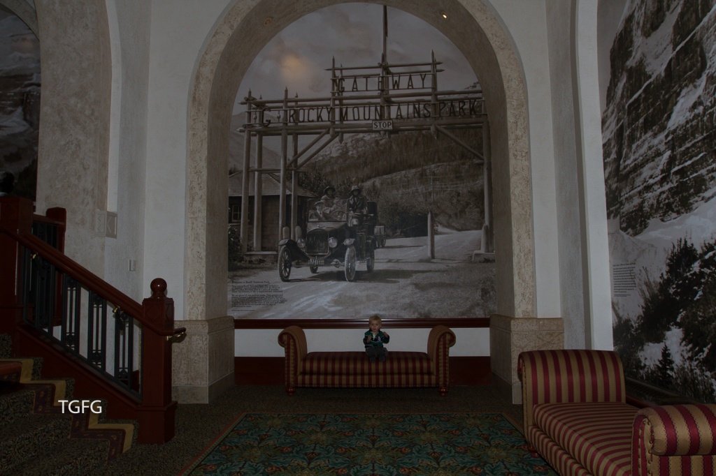 The walls of the Chateau are lined with historical photographs and history.