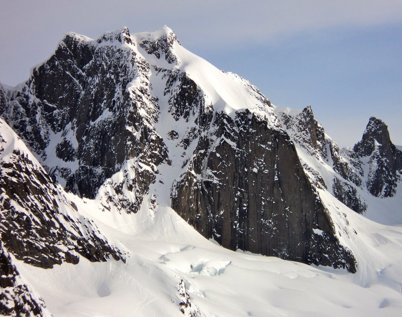 South Couloir, Mount Adamant: 1st descent by Christina Lustenberger?