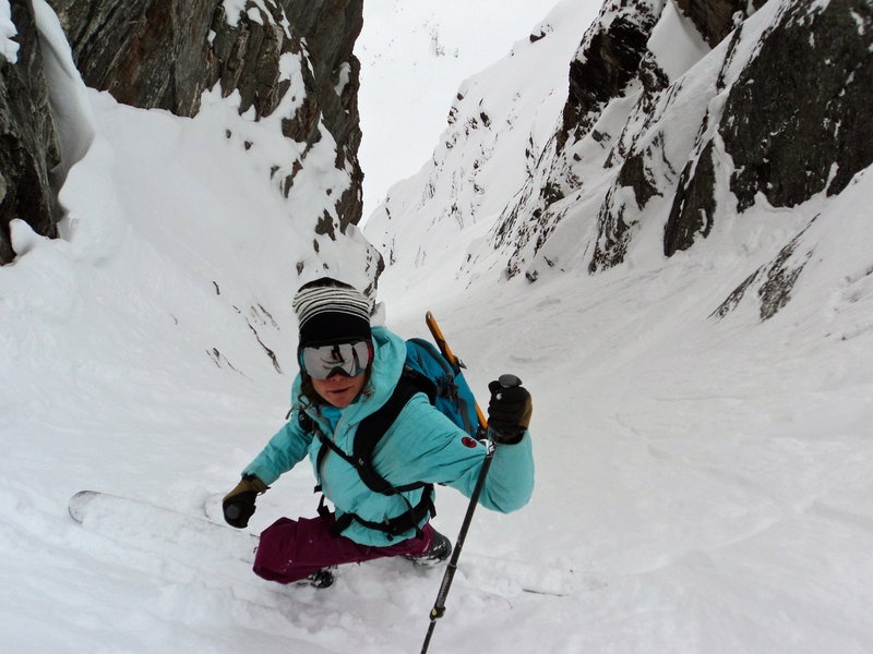 Cookie Monster Couloir, Mount Davis