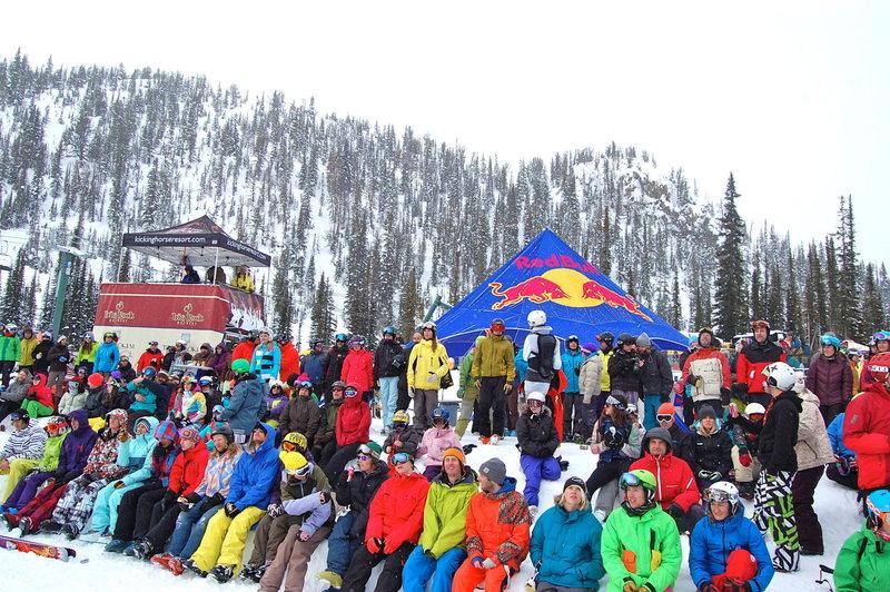 The crowds. Wrangle the Chute Feb 6th 2011. Zoya Lynch Photo