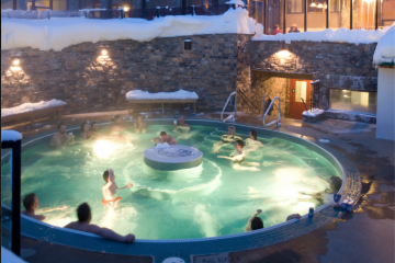 sunshine village hot tub