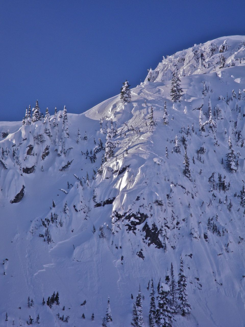 One of the coolest lines I have ever skied, until the rocky take off