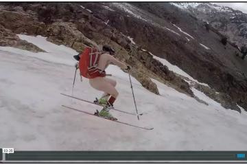 buck naked skiing