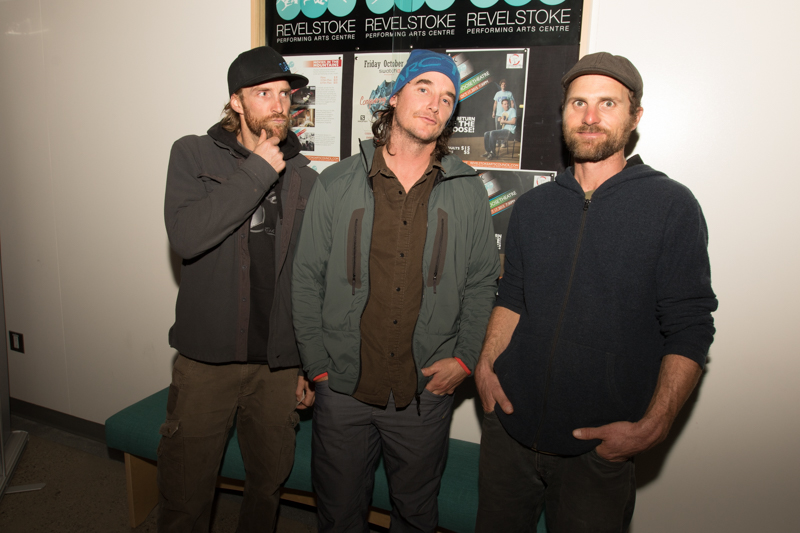 3 local badass skiers: Sean Cochrane, Greg Hill and CJ Wright.