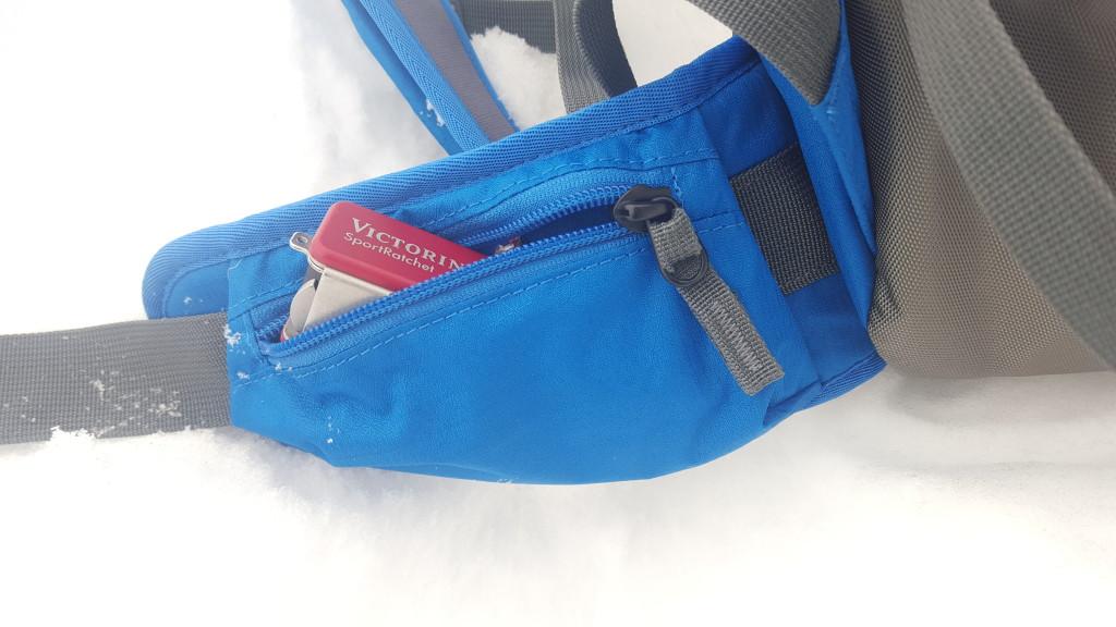 Easy access pockets on the waist belt in BCA Stash packs