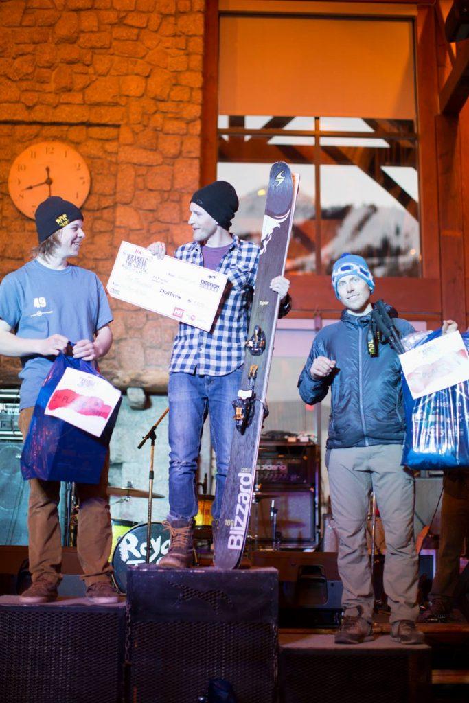 2016 WTC 4* Podium. Men Skiers: 1-Carter Mcmillan 2- Louis Panning-Osendarp 3- Martin Labuda