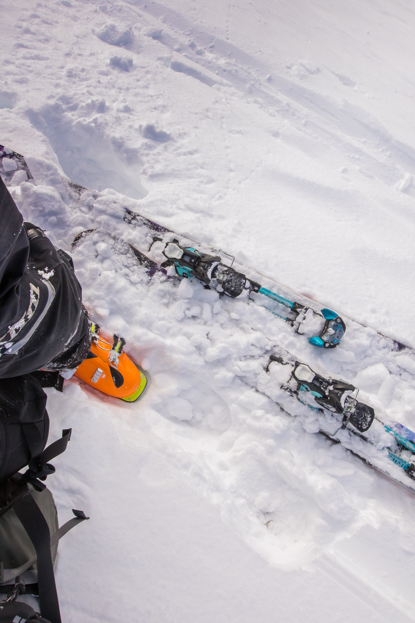 Sled ski touring day in early conditions